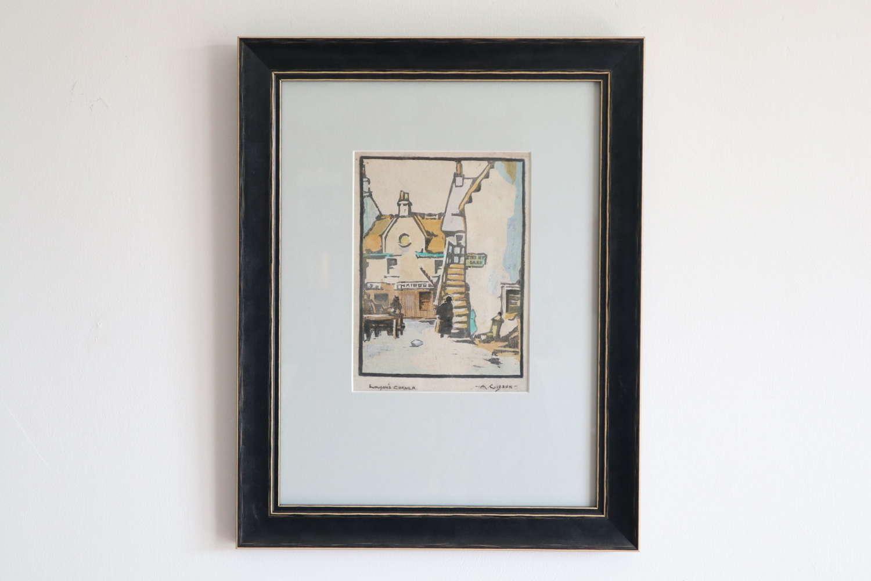 Scottish Artist, Alexander R Gibson (1880-1968) woodblock print c.1920