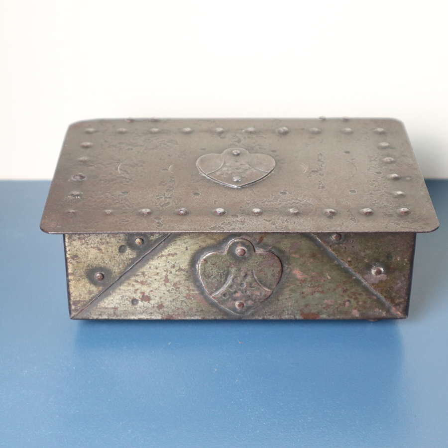 Arts & Crafts, Hugo Berger Goberg, wrought iron jewellery box c.1910.