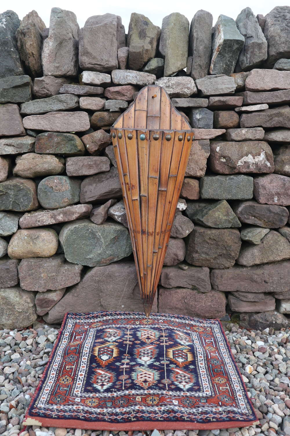 Victorian Large Bamboo Umbrella / Stick Stand 'Wall Mounted' c.1890.