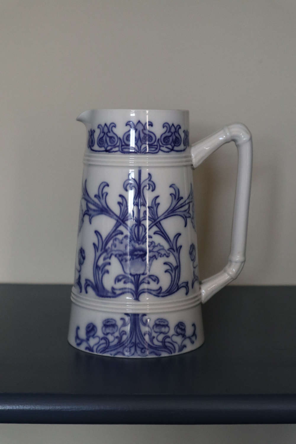 Arts & Crafts / Art Nouveau, James Macintyre & Co, B&W jug c.1890.