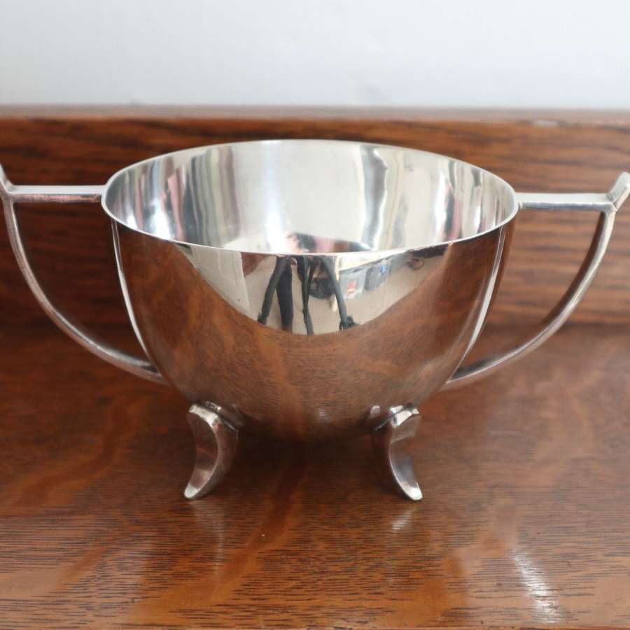 Arts & Crafts double handled silver-plated sugar bowl c.1906.