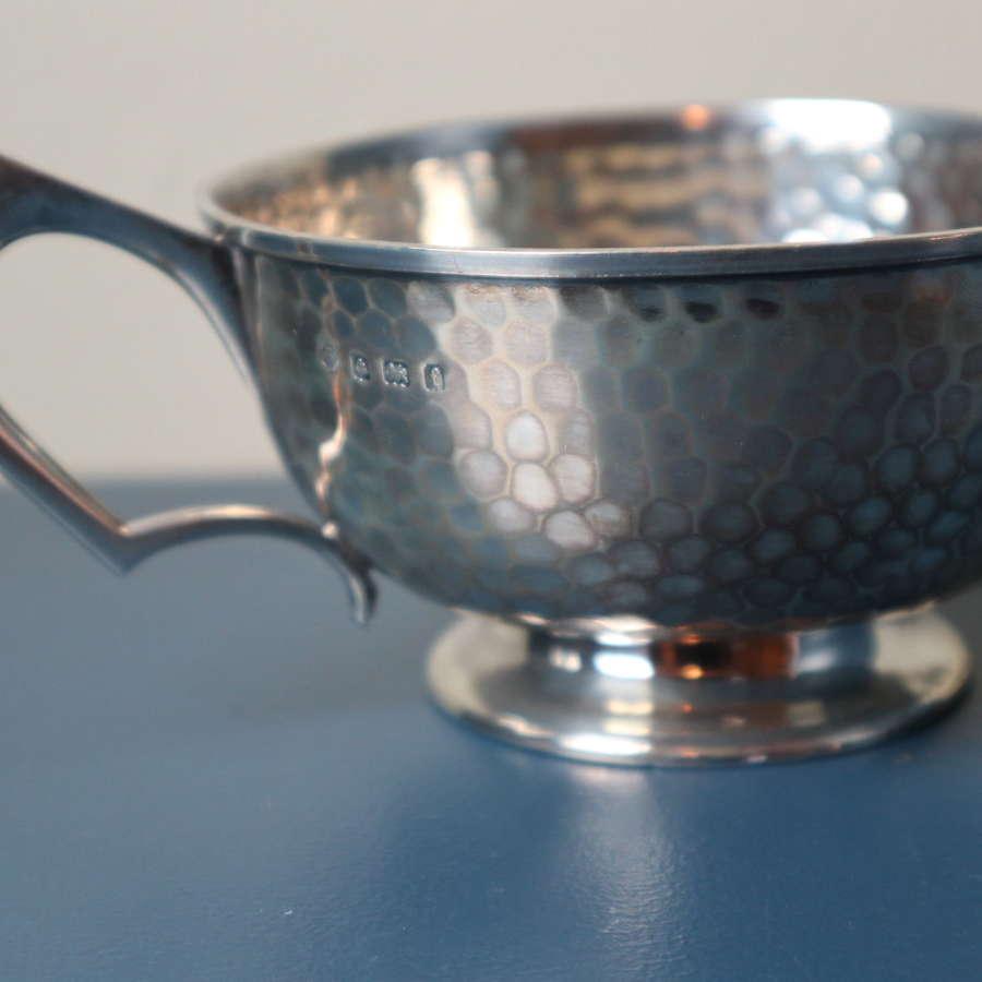 Arts & Crafts hand beaten hallmarked silver cup 1905.