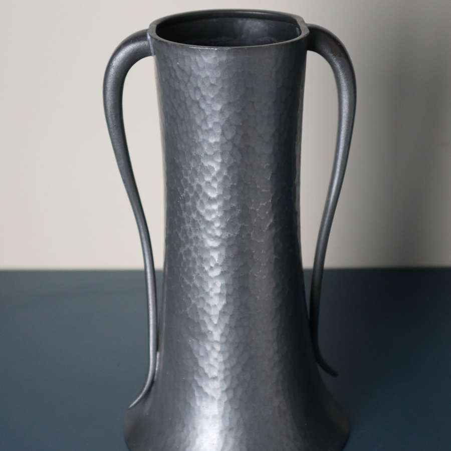 Art Nouveau aesthetic English pewter vase by Walker & Co c.1935.