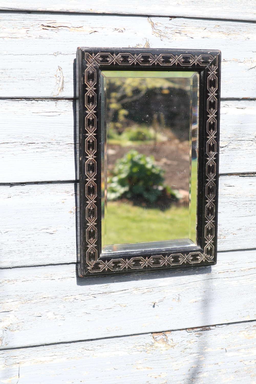 Aesthetic Movement, ebonised wall mirror c.1870.