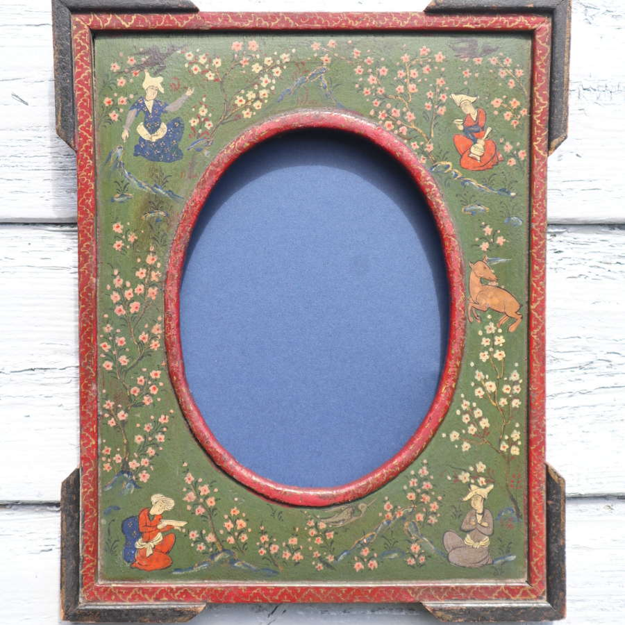 Persian / Middle Eastern wooden portrait photograph frame c.1895.