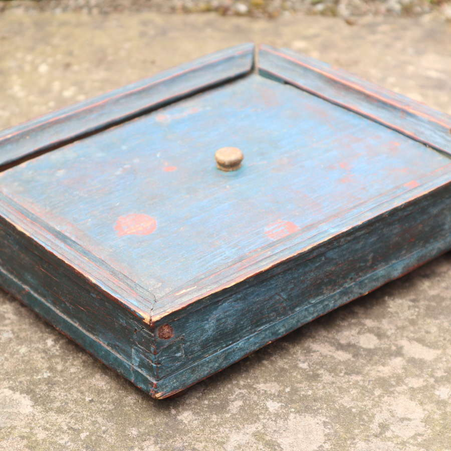 Swedish Folk Art original paint, wooden spice box/rack c.1800.