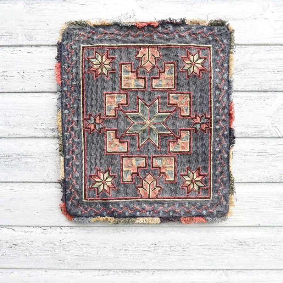 Scandinavian / Swedish Vintage Folk Art Hand Woven Cushion Cover