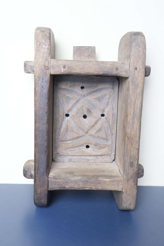 Swedish / Scandinavian 'Folk Art' Cheese-Form, Geometric design c.1844