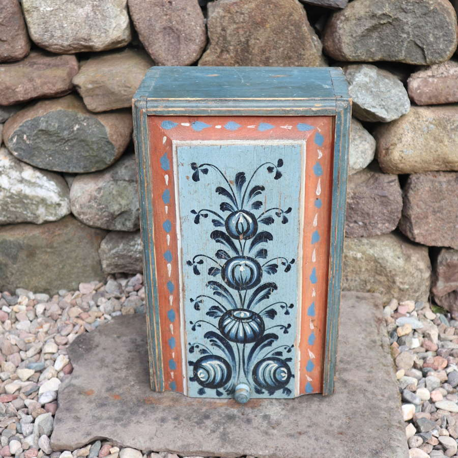 Swedish 'Folk Art' Original Paint, Sliding Lid Box / Timplåda c.1840.