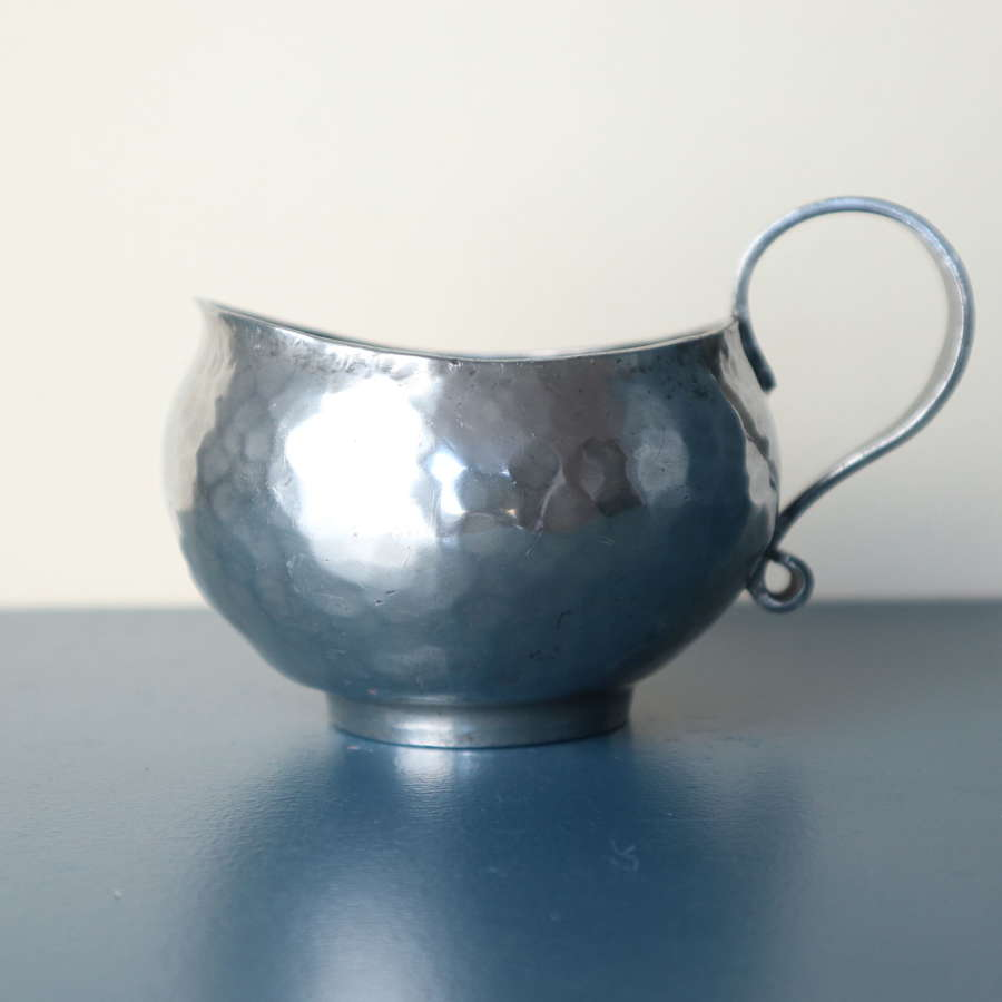 Arts & Crafts Hugh Wallis Hammered Pewter Jug c.1910