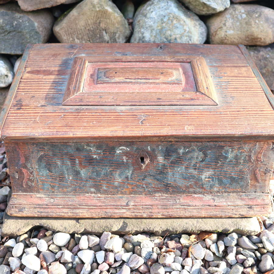 Swedish 'Folk Art' Bridal / dowry box rosmålning, Gustavian era 1789