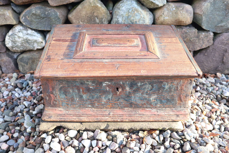Swedish 'Folk Art' Bridal / dowry box rosmålning, Gustavian era 1789