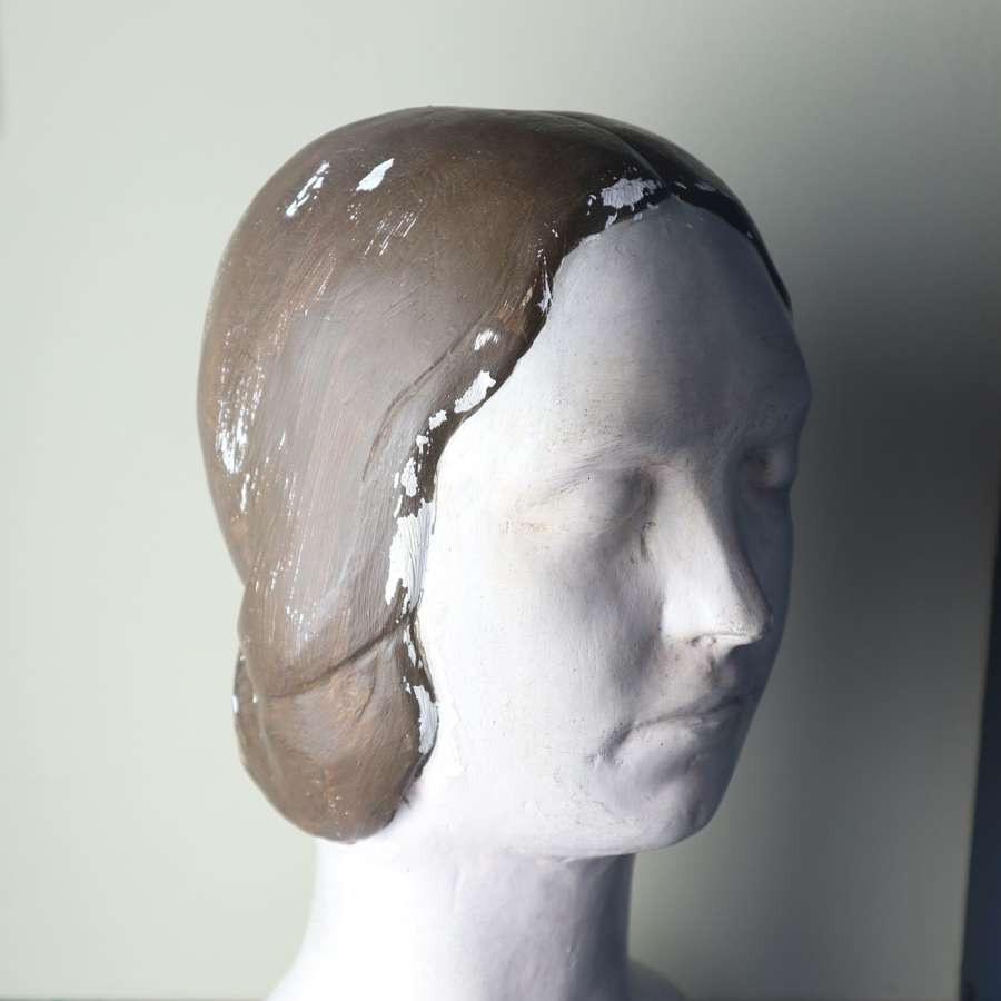 Large expressionist sculpture female plaster bust c.1930/40s