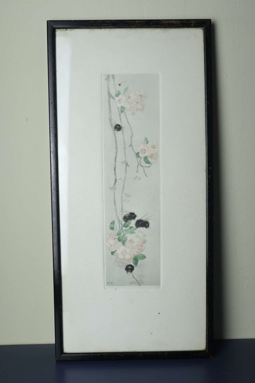 Scottish Arts & Crafts, Katharine Cameron Bees & Apple Blossom c.1906