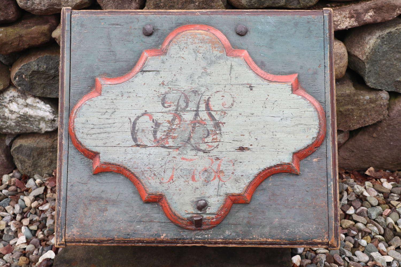 Swedish 'Folk Art' Baroque style table box late 18th Century