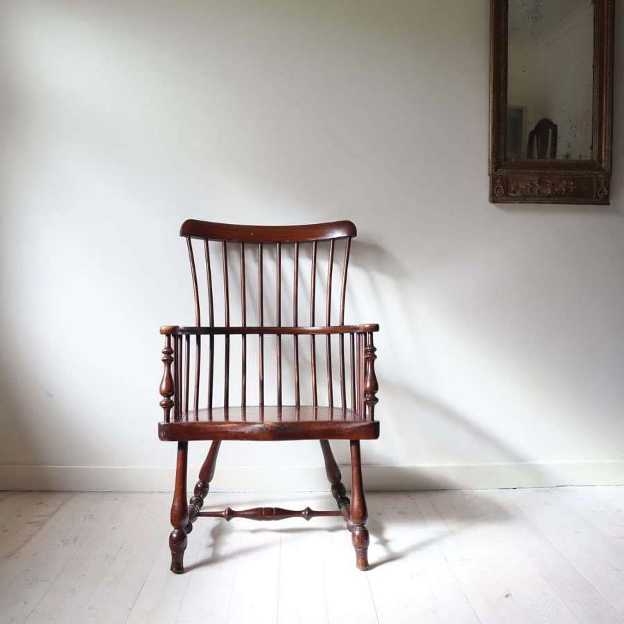 Victorian Scottish Darvel High Comb-backed Windsor Chair c.1885
