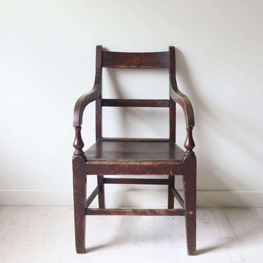 19th Century Scottish vernacular Glasgow pattern joined armchair c1880