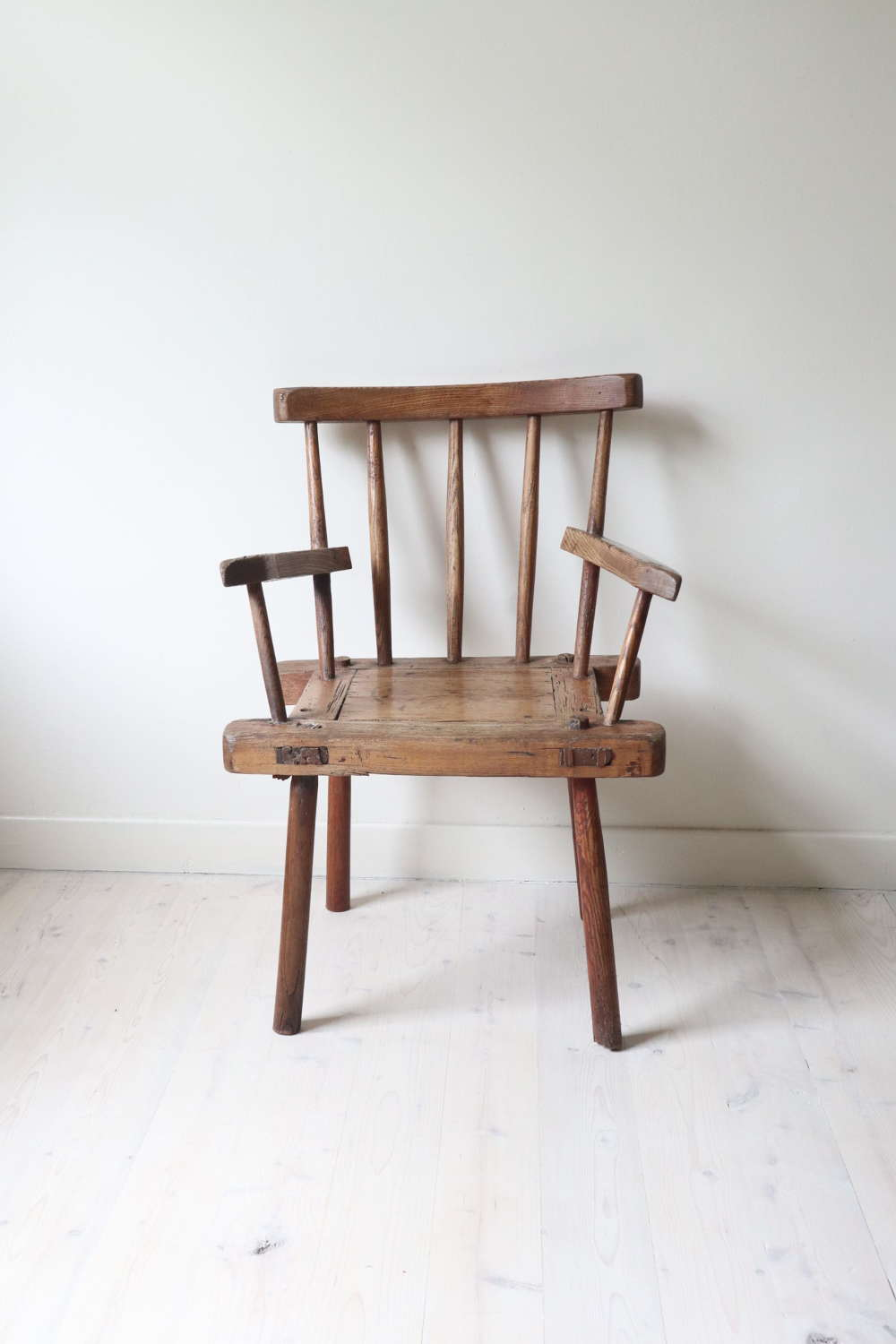 19th Century Irish country/vernacular hedge chair from Co. Antrim