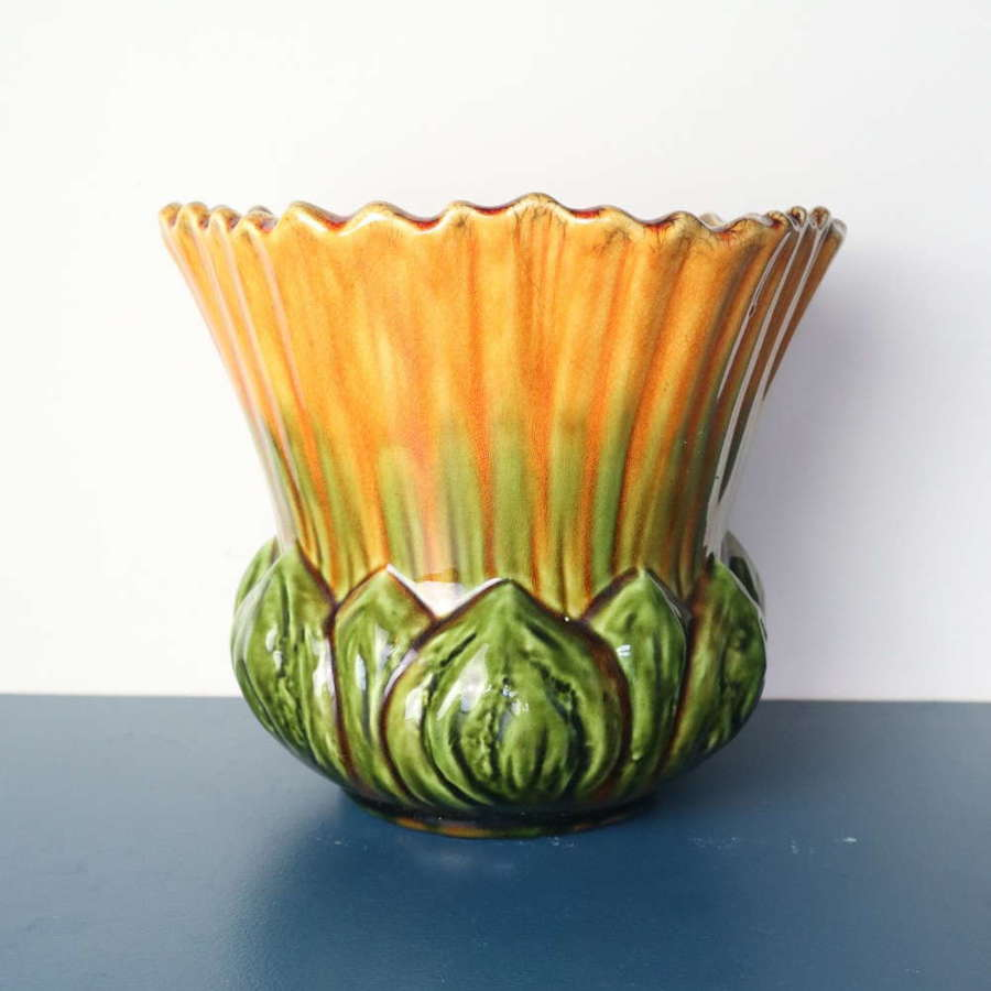 Arts & Crafts Ault pottery Floriform 'Convolvulus' Jardinière c.1895