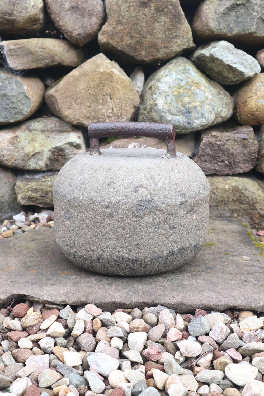 Georgian, Scottish Curling Stone, Iron Handled, Perthshire c.1815