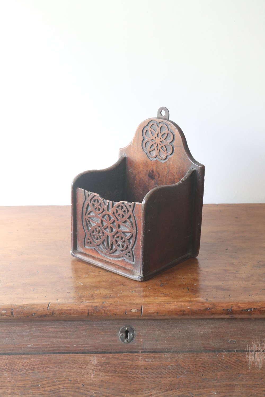 Scottish Vernacular 'folk Art' Celtic Knotwork Spoon Box c.1825